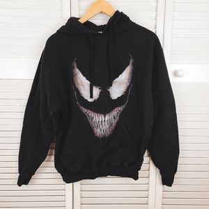 MARVEL Venom Black Hoodie Sweatshirt Size M